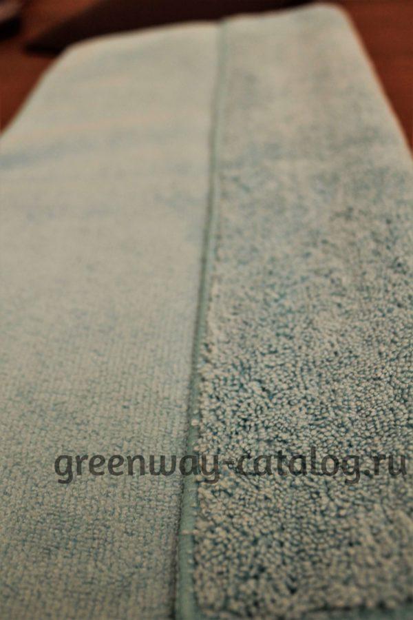 Две поверхности универсальной бирюзовой салфетки Ujut